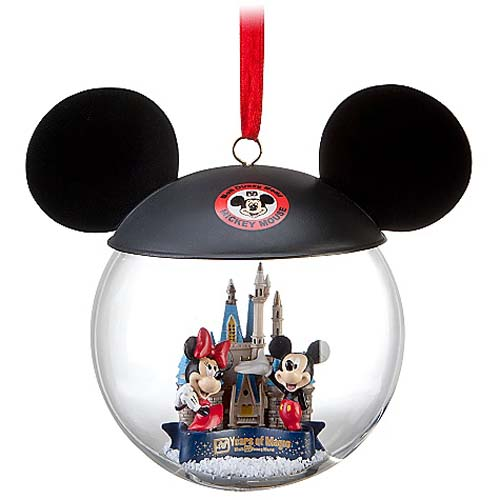 disney holiday ornament 40th anniversary ears hat castle - Mickey Mouse Ornaments Christmas