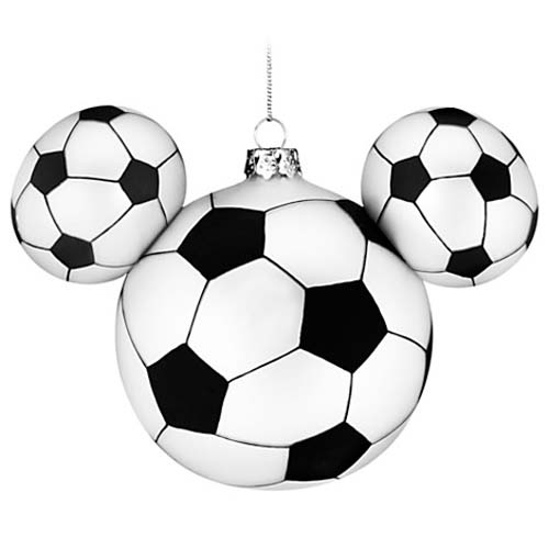 disney christmas ornament mickey ears large sport soccer