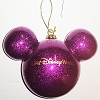 Disney Holiday Ornament - Mickey Ears Large Glitter - Purple