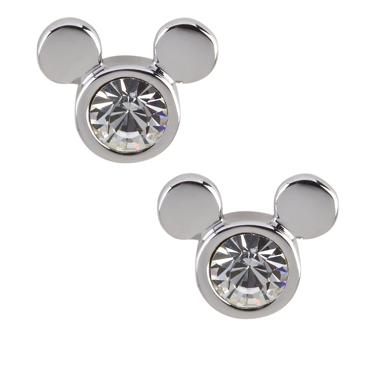 98ed79128298d Disney Arribas Earrings - Swarovski Crystal Mickey Mouse Icon Silver
