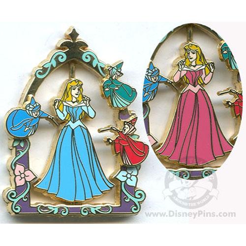Disney Princess Pin Princess Aurora Pink Or Blue Dress