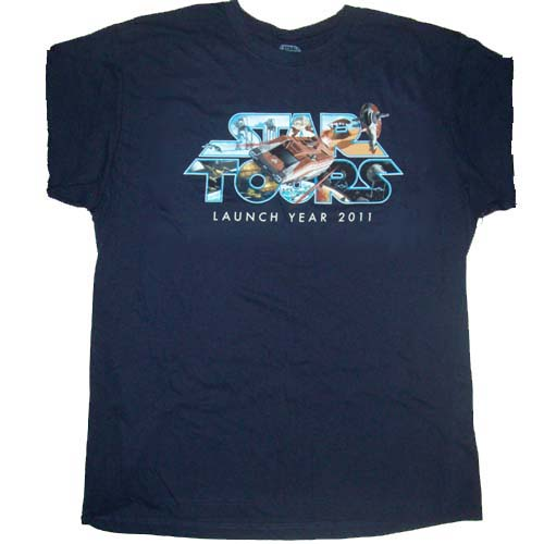 Disney Adult Star Wars Weekends Shirt - STAR TOURS Launch Year 2011