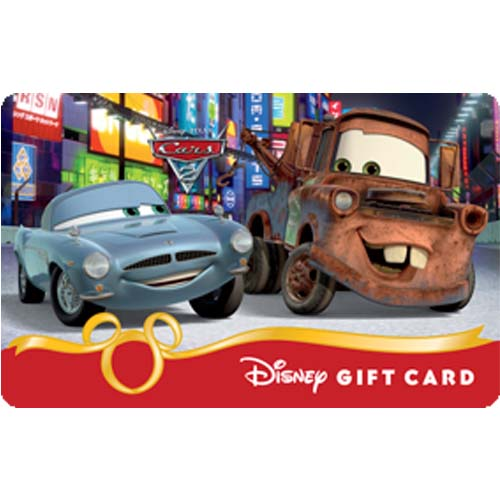 Disney Collectible Gift Card - Cars 2 - Mater & Finn Secret Mission 3D