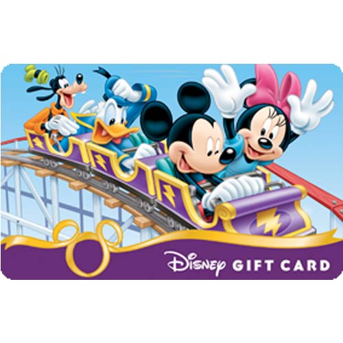 Disney Collectible Gift Card - Mickey & Friends Crazy Coaster