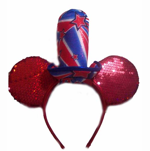 Disney Hat Ears Headband Fourth Of July Sequined