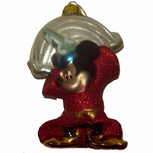 Disney Christmas Ornament - Sorcerer Mickey Mouse Glitter - Rainbow