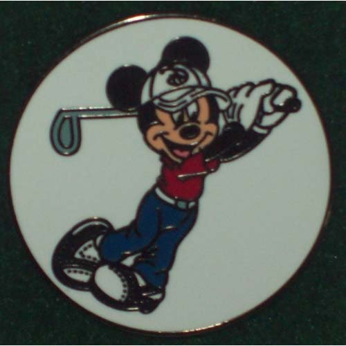 Disney Golf Ball Marker Mickey Mouse Golfing