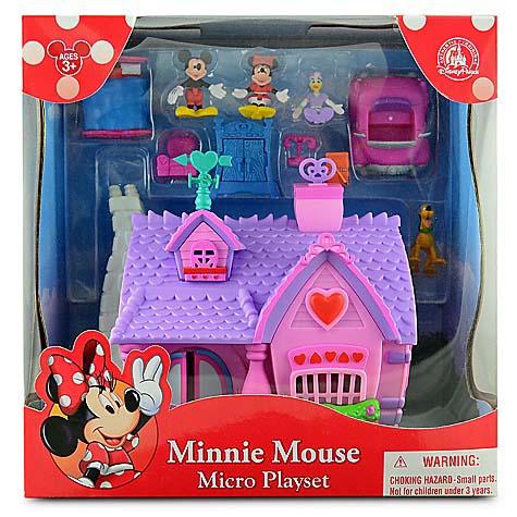 Disney Figurine Set - Minnie Mouse House Micro Play Set