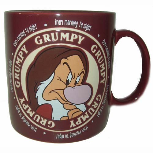 Disney Coffee Cup Mug Grumpy From Morning To Night
