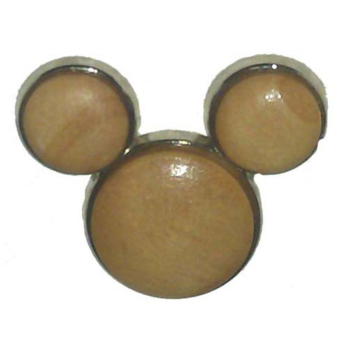 Disney Mickey Pin - Icon - Wood - Light or Dark