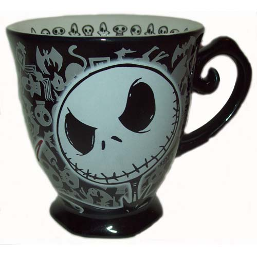 disney coffee cup mug nightmare before christmas jack skellington