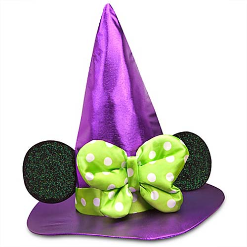 Disney Holiday Halloween Hat - Minnie Witch with Ears and Green Bow