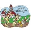 Disney's Grand Floridian Resort & Spa Logo Pin - Mickey Goofy Donald