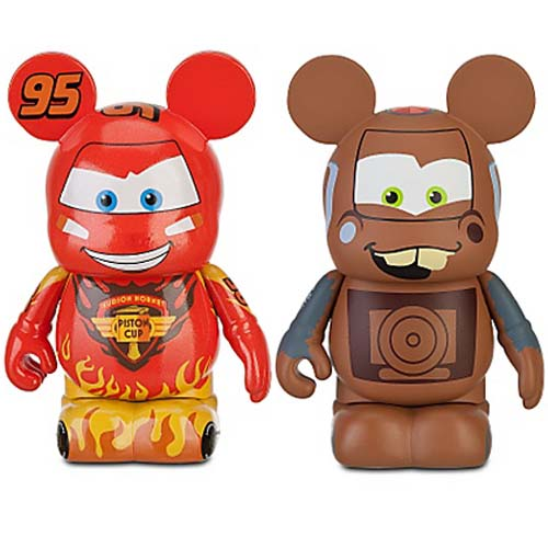Disney vinylmation Set - Cars 2 Lightning McQueen Tow Mater 2 Pc. 3