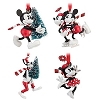 Disney Christmas Ornament Set - Nostalgic Red and White Mickey Mouse