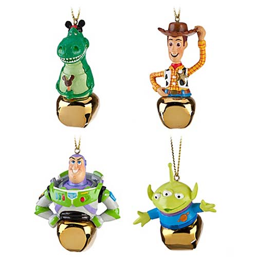 Toy Story Christmas Ornaments.Disney Christmas Ornament Set Jingle Bell Toy Story