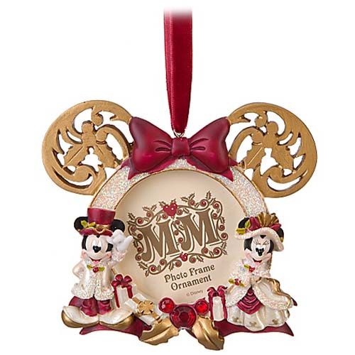 disney christmas frame ornament victorian minnie and mickey - Mickey And Minnie Christmas Decorations