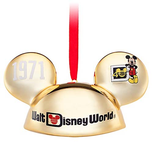 Disney Ears Hat Ornament - 40th Anniversary - Limited Edition Gold
