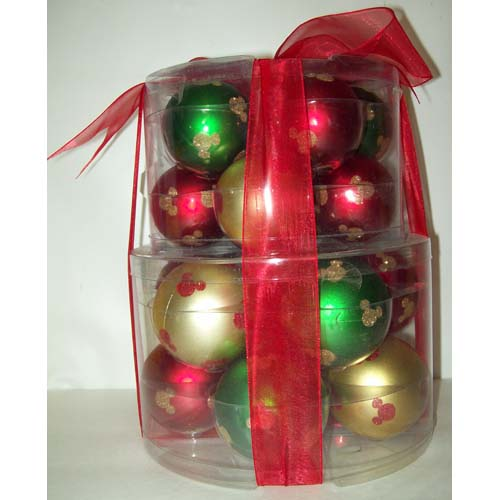 Disney Christmas Ornament Set Shatterproof Ball Ornament Set