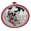 Disney Christmas Ornament - White Mickey and Minnie Sledding