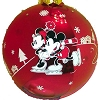 Disney Christmas Ornament - Red and White Metallic Ball