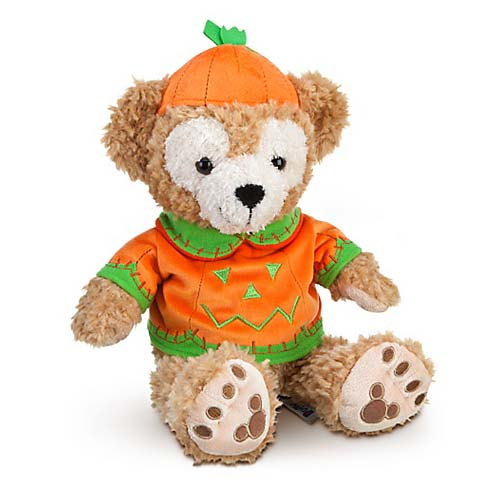 Disney Duffy Bear Plush - Halloween Pumpkin 2011 - 12'' H