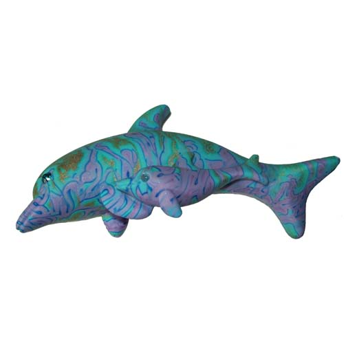 SeaWorld Magnet - Swarovski Clay Critter - Dolphin with Baby