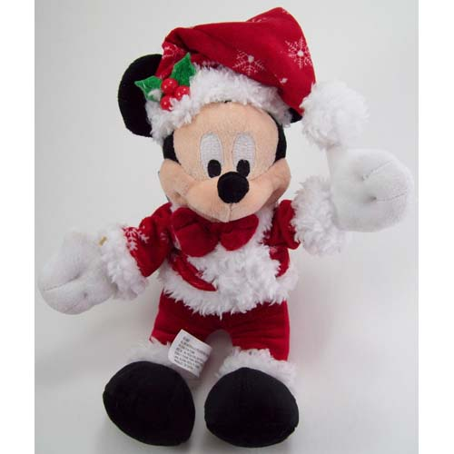 Disney Christmas Plush - Happy Holidays 2011 - Santa Mickey