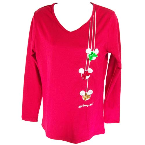 Disney Womens Shirt - 2011 Disney World Mickey Ornaments