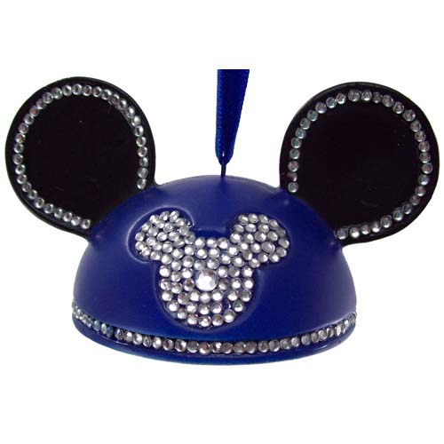 Disney Ears Ornament - Rhinestone Mickey Mouse - Blue Ears Hat 7dbb3631ede