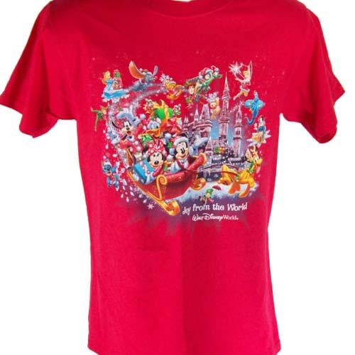 Disney Adult Shirt - 2011 Joy from the World Christmas Logo
