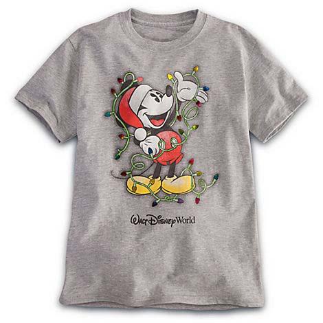 disney child shirt santa mickey christmas lights