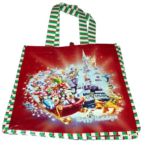 Disney Reusable Shopping Bag - Happy Holidays - Christmas