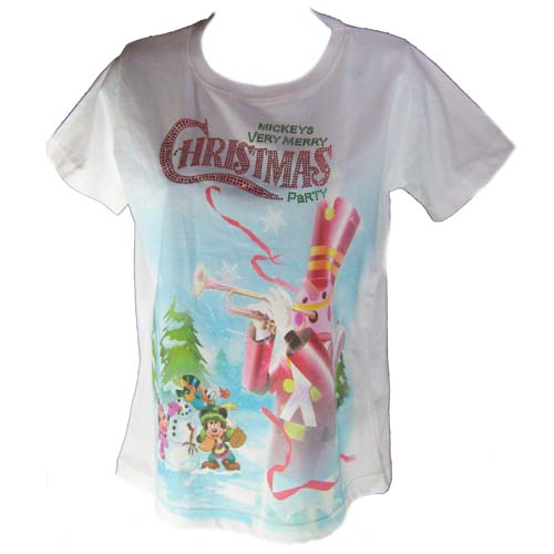 Disney Adult Shirt - Mickey's Very Merry Christmas Party 2011 White
