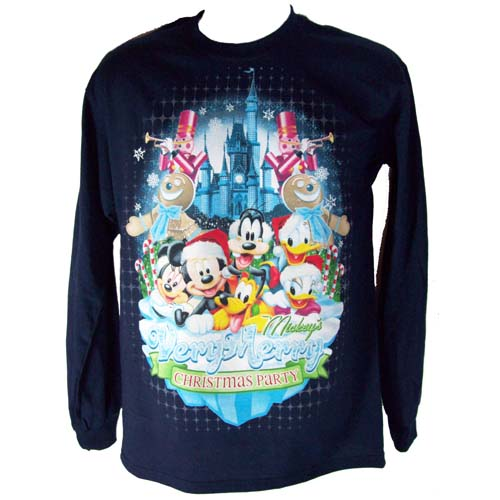 Disney Adult Shirt - Mickey's Very Merry Christmas Party 2011 Blue
