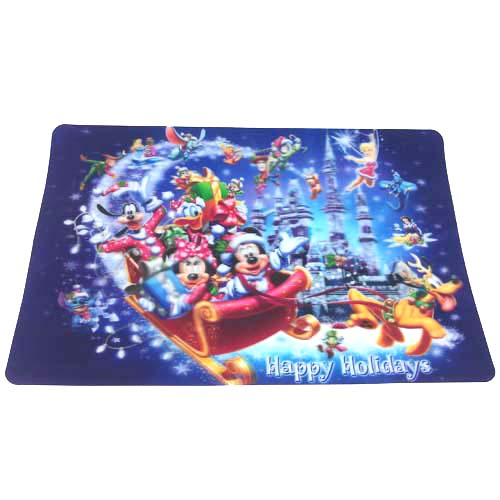 disney placemat - happy holidays sleigh
