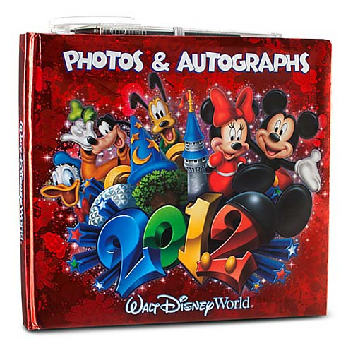Disney Autograph and Photo Book - 2012 Mickey and Friends