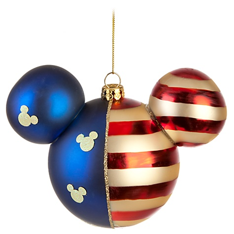 disney holiday ornament americana mickey mouse ears - Mouse Decorations Christmas