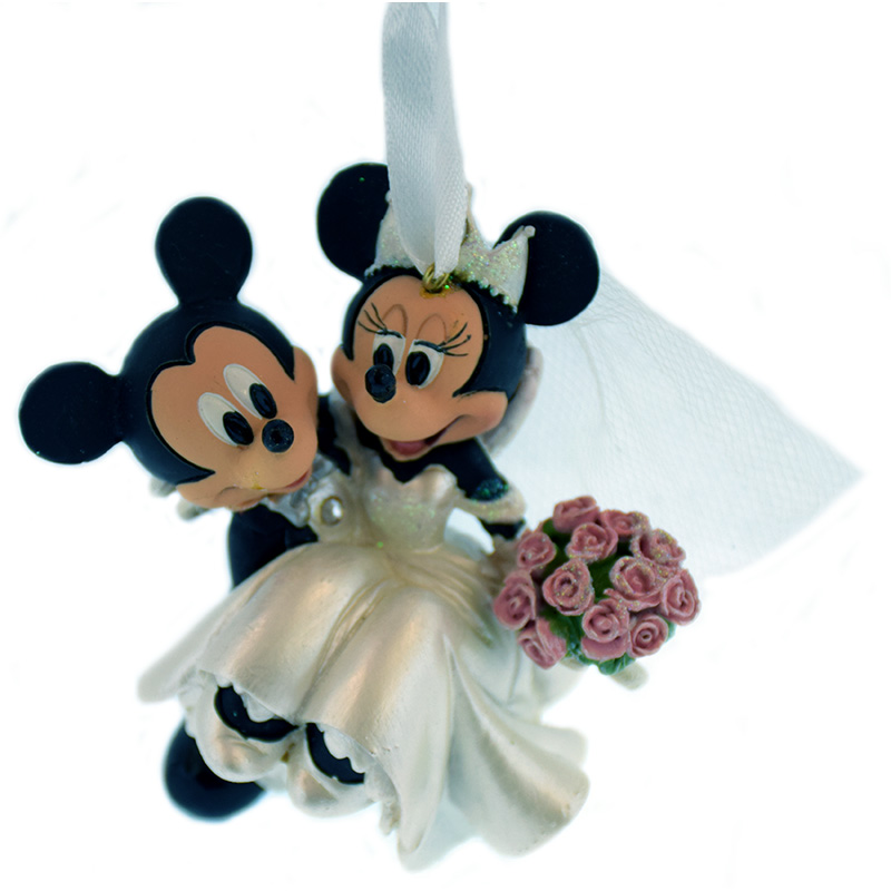 Disney Christmas Ornament -  Mickey & Minnie Mouse - Wedding Just Married