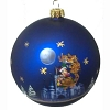 Disney Glass Ball Ornament - Santa Mickey Mouse & Reindeer Sleigh