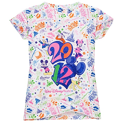 Disney Child Shirt - 2012 Mickey Mouse and Friends Glitter Tee