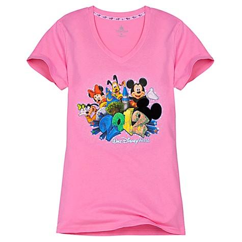 b1bb00e5ed11e9 Disney Ladies Tee Shirt - 2012 Walt Disney World V-Neck Style