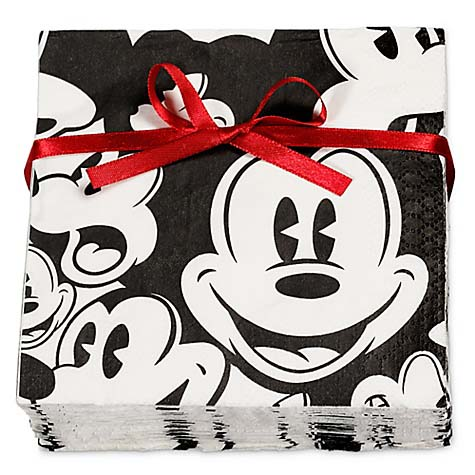 Your Wdw Store Disney Mickey Mouse Napkins Black And White