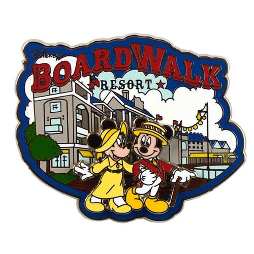 Disney Boardwalk Resort Pin Mickey And Minnie Logo