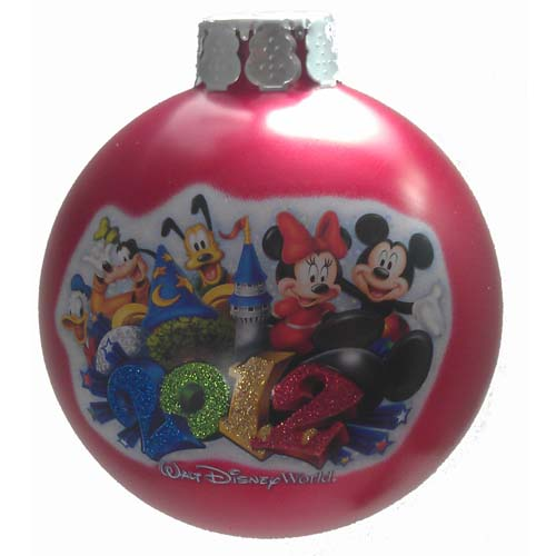 Disney Christmas Holiday Ornament - 2012 Logo - Mickey and Friends
