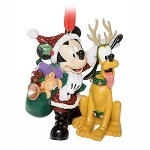 Disney Christmas Ornament - Santa Mickey Mouse & Reindeer Pluto