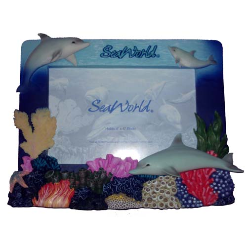 SeaWorld Picture Frame - Dolphin on a Reef 6 x 4