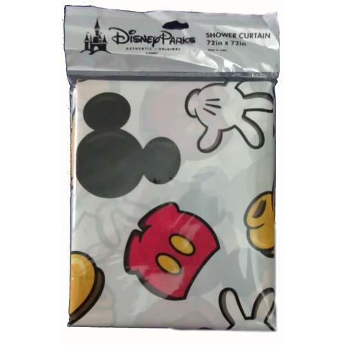 Disney Bathroom Decor   Mickey Mouse   Body Parts   Shower Curtain