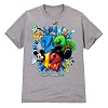Disney Adult Shirt - 2012 Flocked Walt Disney World - Gray