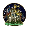 Disney Magic Kingdom Pin - Tinker Bell - Cinderella Castle Fireworks